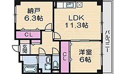 Casa Approval 5階1SLDKの間取り