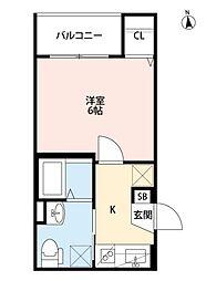 Grand平野[3O1号室号室]の間取り