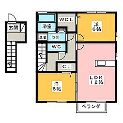 ラベンダー ユー[2階]の間取り