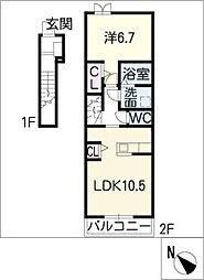 リバーサイドIV[2階]の間取り