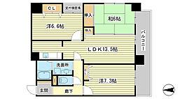 ラシャンス広畑[203号室]の間取り