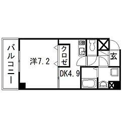 静岡県浜松市中区北田町の賃貸マンションの間取り