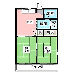 サンシャイン鳥居松[6階]の間取り