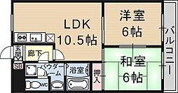レジオン西大津[102号室号室]の間取り