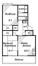 プルミエール鷹の台[1階]の間取り