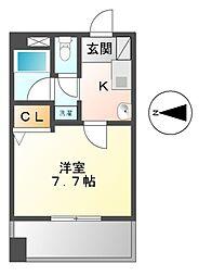 エスタシオン新栄[5階]の間取り