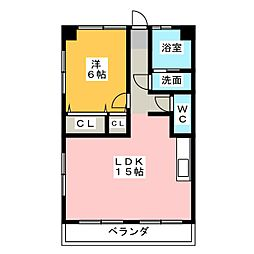 三陽ビル[1階]の間取り