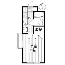 東京都世田谷区下馬2丁目の賃貸マンションの間取り