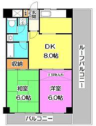 サンハイム谷原第2ビル[5階]の間取り
