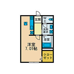 ストラーダ湘南[1階]の間取り