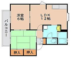 ドミール吉塚 A[2階]の間取り