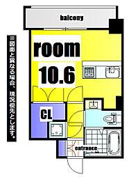 No.63 ORIENT CAPITAL TOWER 18階1Kの間取り