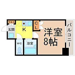 愛知県名古屋市中区葵3丁目の賃貸マンションの間取り