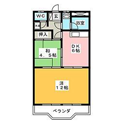 グラッツ アモーレ大垣[3階]の間取り