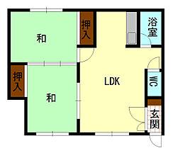 東栄ハウス[206号室]の間取り