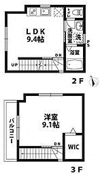 京王線 八幡山駅 徒歩1分の賃貸アパート 3階1LDKの間取り