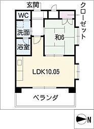 R−COURT泉[5階]の間取り