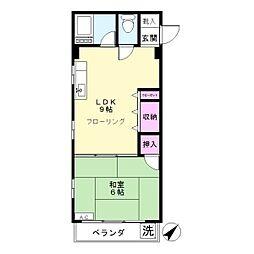 第2富士美マンション[302号室]の間取り