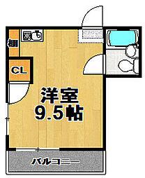千鳥橋第一ビル[6階]の間取り