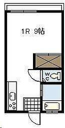 横山アパート[206号室]の間取り