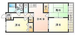 ルミエール高柳[2階]の間取り