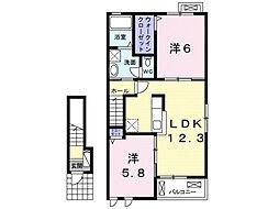 モアニ ケアラ エルア[2階]の間取り