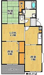 千葉県船橋市夏見3丁目の賃貸マンションの間取り