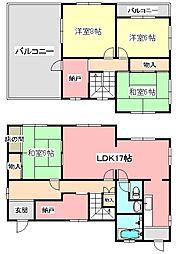 [一戸建] 大阪府富田林市高辺台3丁目 の賃貸【/】の間取り