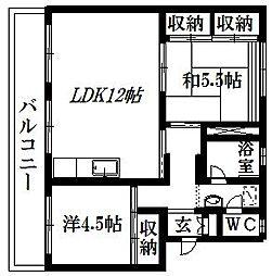 芳川マンション[B-40号室]の間取り
