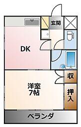 キャッスル甲子園[3階]の間取り