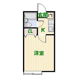 ミント大谷田B[0202号室]の間取り