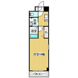 愛知県名古屋市港区当知3丁目の賃貸マンションの間取り