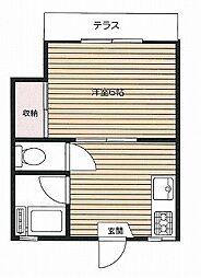マロンハイツ 幡ヶ谷3分 3駅4線利用可 通勤・通学・買物も[1階]の間取り