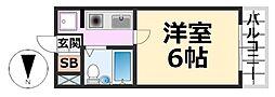 ピュア住江[403号室号室]の間取り