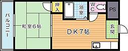 内山第20ビル[403号室]の間取り