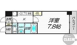 プランドール新大阪SOUTHレジデンス 2階1Kの間取り