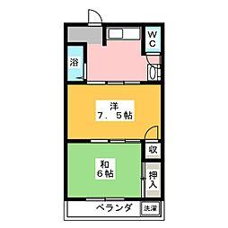 恵那マンション[2階]の間取り