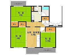 UR中山五月台住宅[8-501号室]の間取り