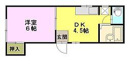 前田ハイツ[1階]の間取り