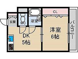 クリスタルシャトー[3階]の間取り