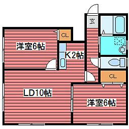メゾンド・デコール[2階]の間取り
