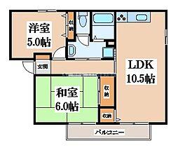 メゾンニュー池島D棟[1階]の間取り
