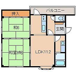 マンションニューハマII[3階]の間取り