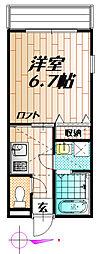 プレステージ谷塚III[201号室]の間取り