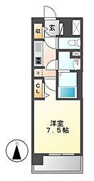 プレサンス名古屋STATIONディーヴァ[2階]の間取り