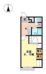 兵庫県相生市山手2の賃貸アパートの間取り