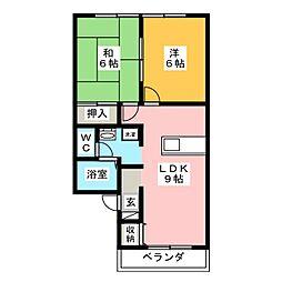 セジュール三沢[2階]の間取り
