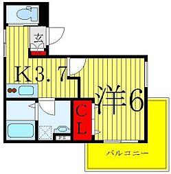 Confor Maison 3階1Kの間取り