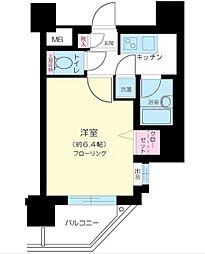 東京都港区芝浦1丁目の賃貸マンションの間取り