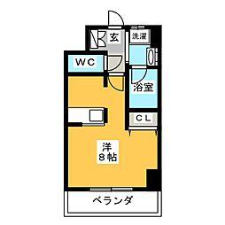 プルミエ志賀本通[4階]の間取り